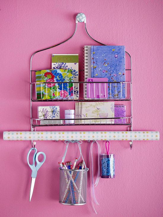 Shower Caddy Turned Craft Room Storage