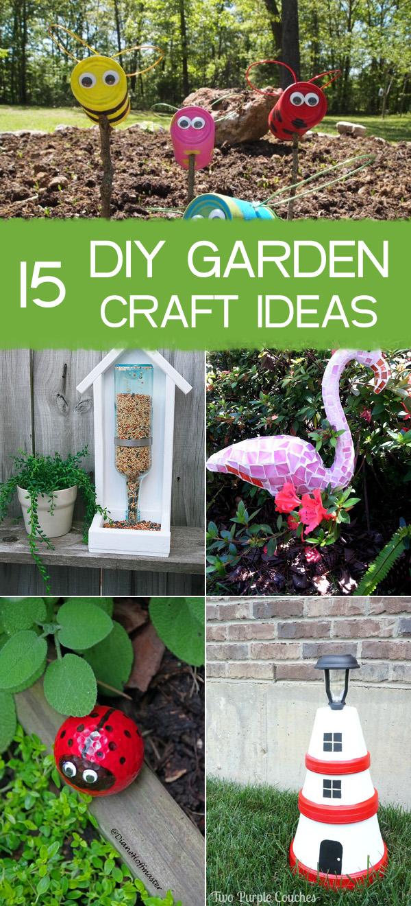 15 amazing diy garden craft ideas for Diy garden crafts