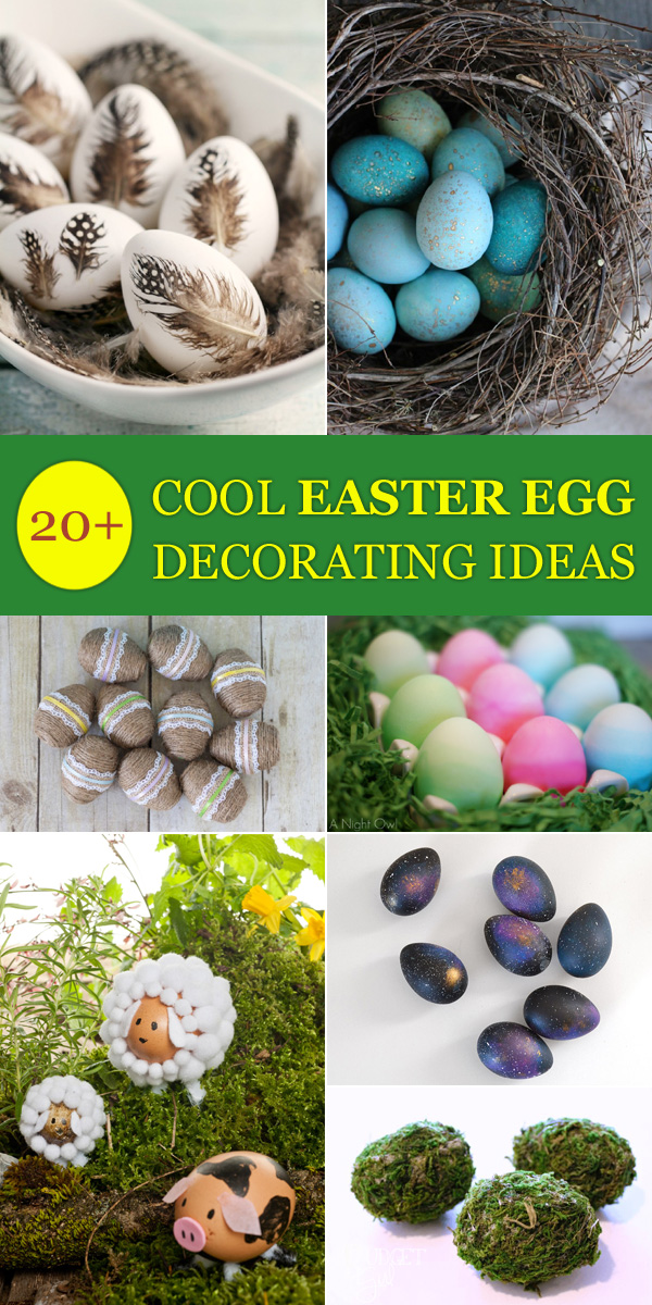 20+ Cool Easter Egg Decorating Ideas