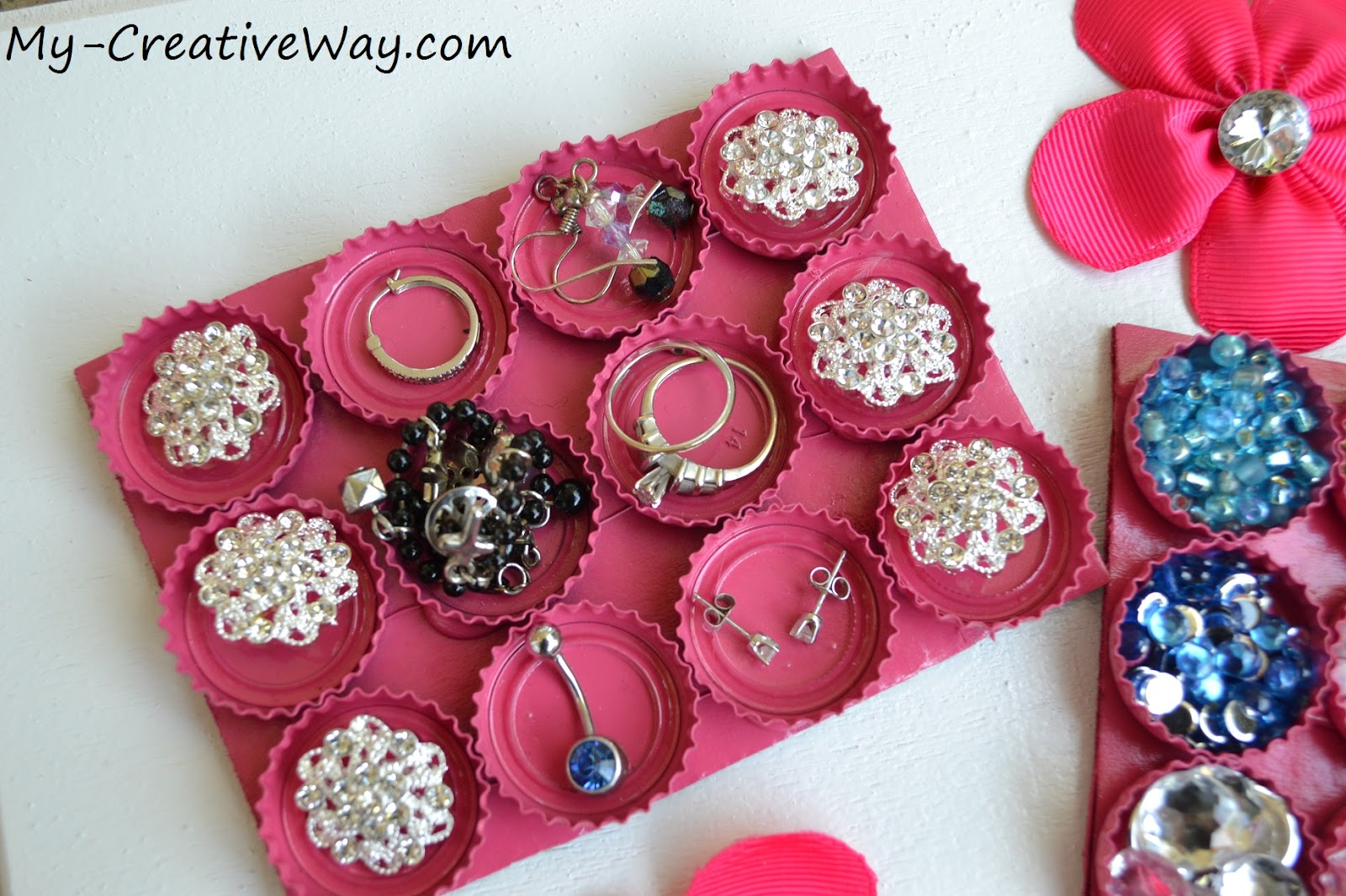Bottle Cap Jewelry Organizer