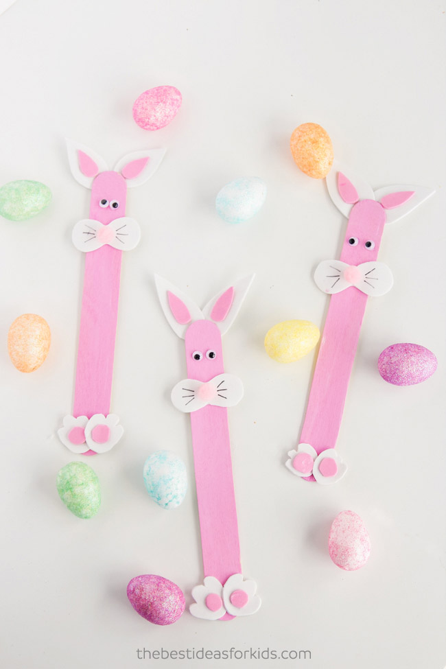 Popsicle Stick Easter Bunnies