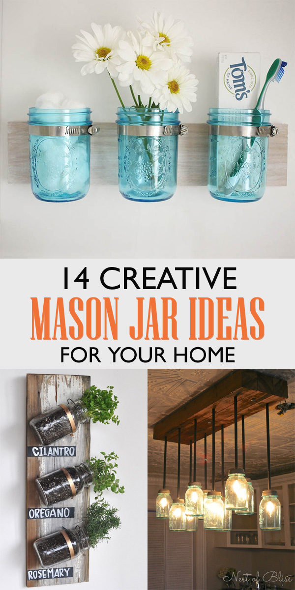 14 Creative Mason Jar Ideas For Your Home