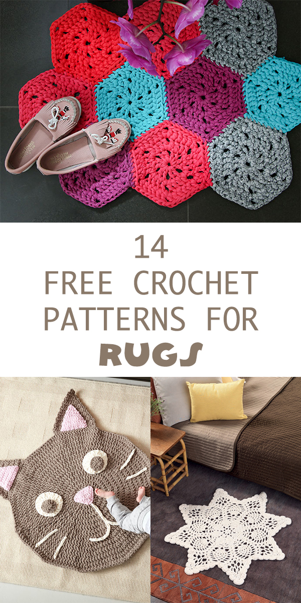 14 Free Crochet Patterns for Rugs