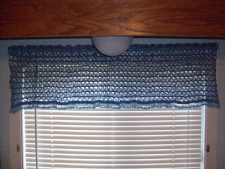 Broomstick Lace Beaded Valance