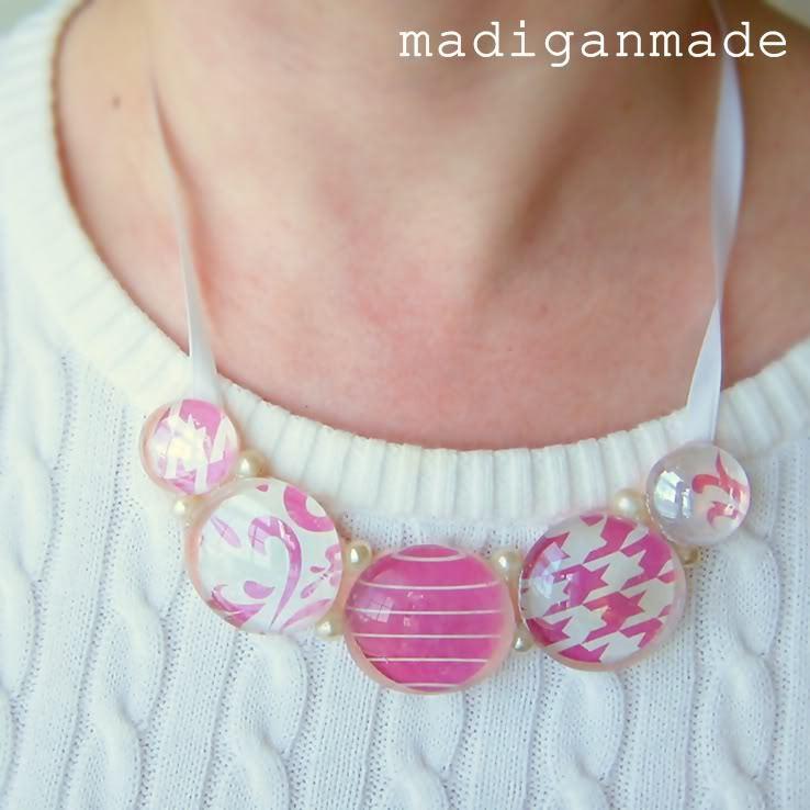 Glass Gem Bib Necklace