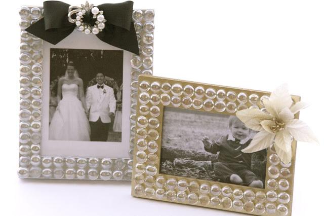 Glass Gem Photo Frames