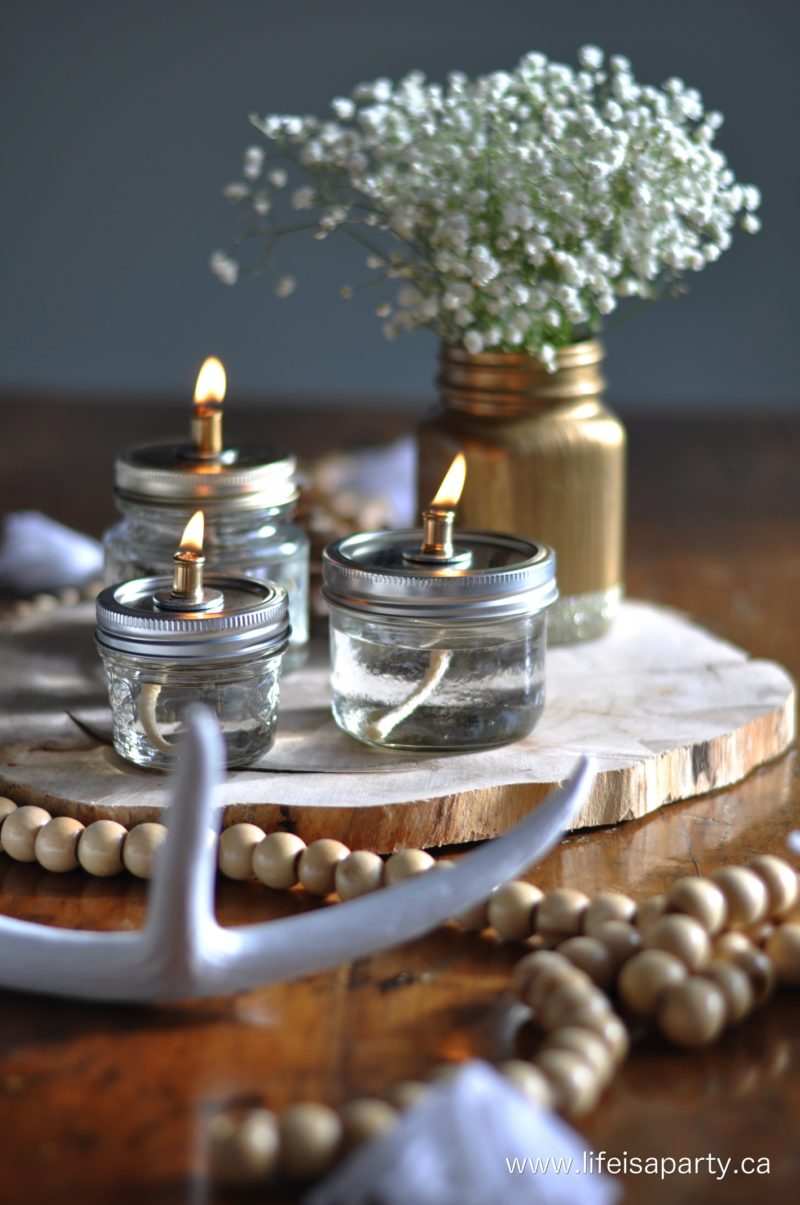 Mason Jar Oil Lamps