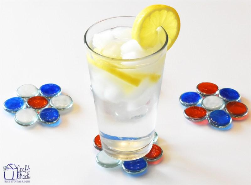 Patriotic Glass Gem Coasters