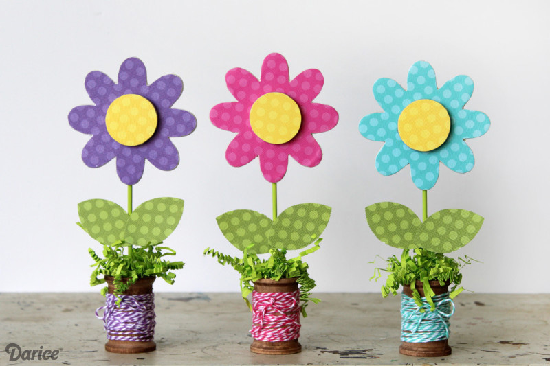 Wooden Spool Flowers