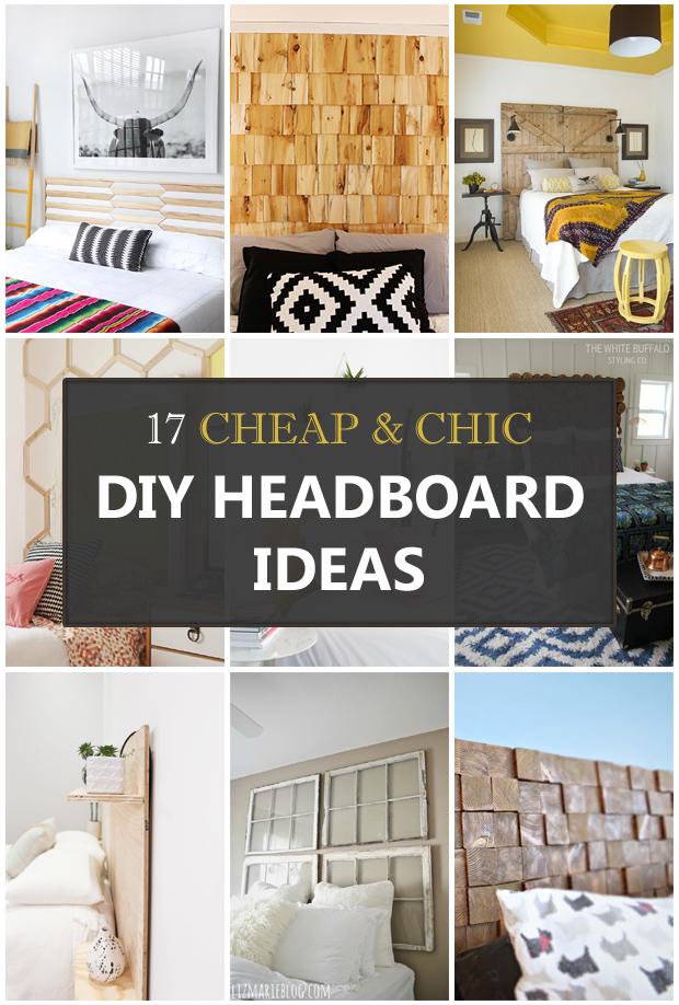 17 Cheap and Chic DIY Headboard Ideas