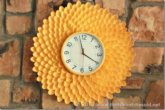 Plastic Spoon Clock