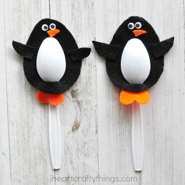 Plastic Spoon Penguins
