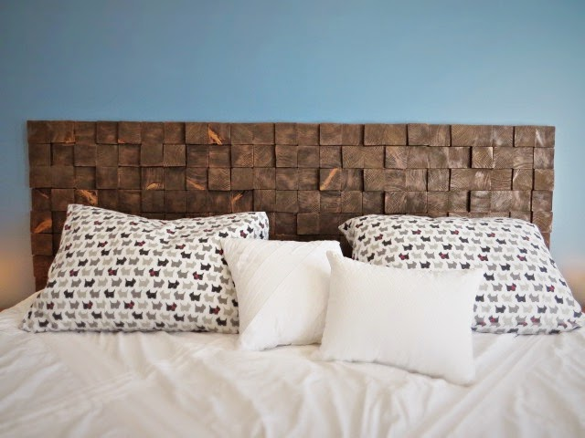 Wood Block Headboard