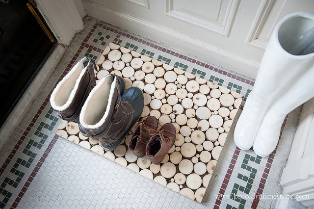 Wood Slice Boot Mat