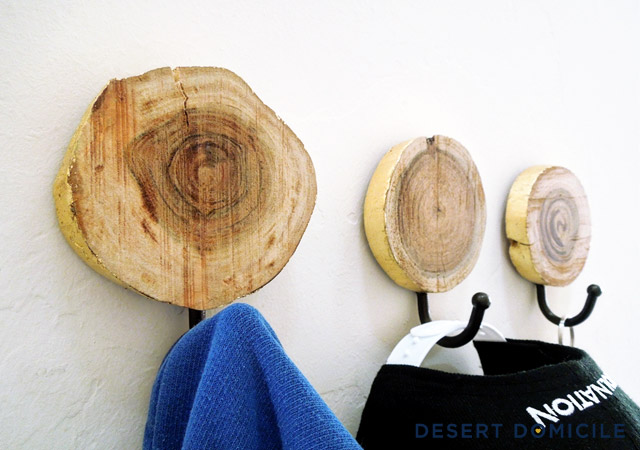 Wood Slice Coat Hangers