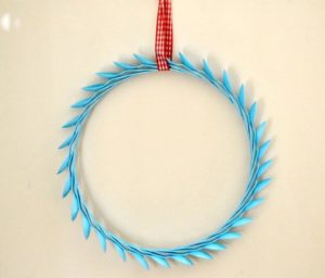 Plastic Spoon Wreath