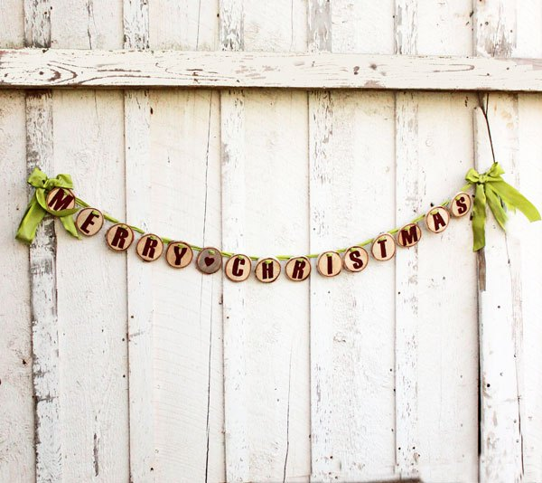 Wood Slice Garland