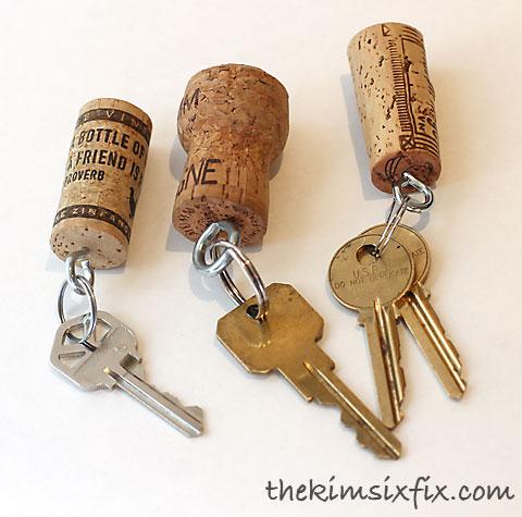 Wine Cork Keychains