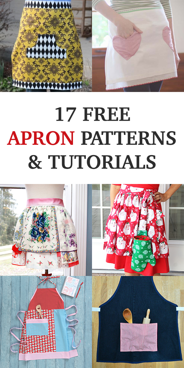 17 Free Apron Patterns & Tutorials