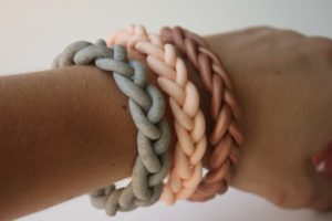 Braided Clay Bracelet