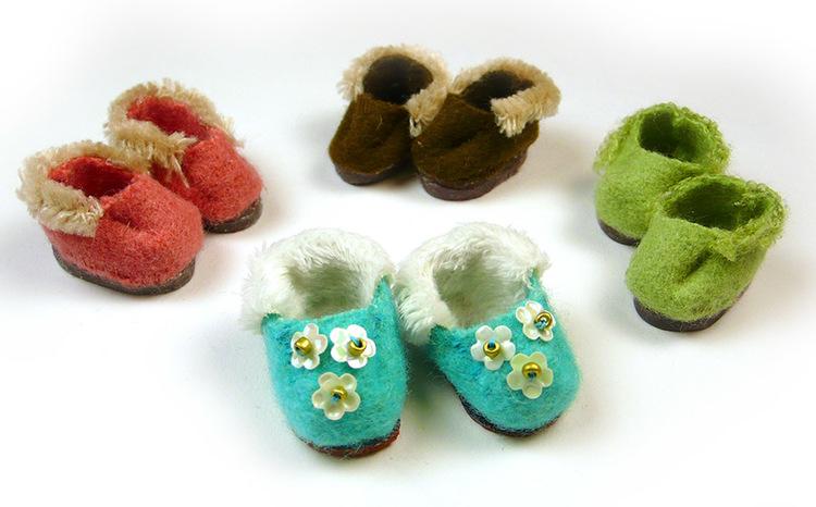 Tiny doll slippers