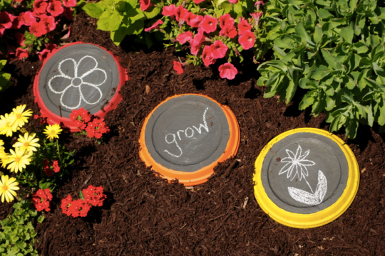 chalkboard stepping stones