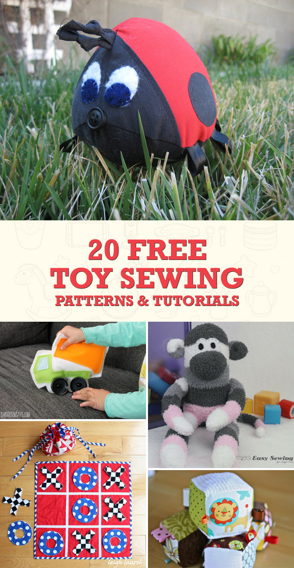 20 Free Toy Sewing Patterns and Tutorials