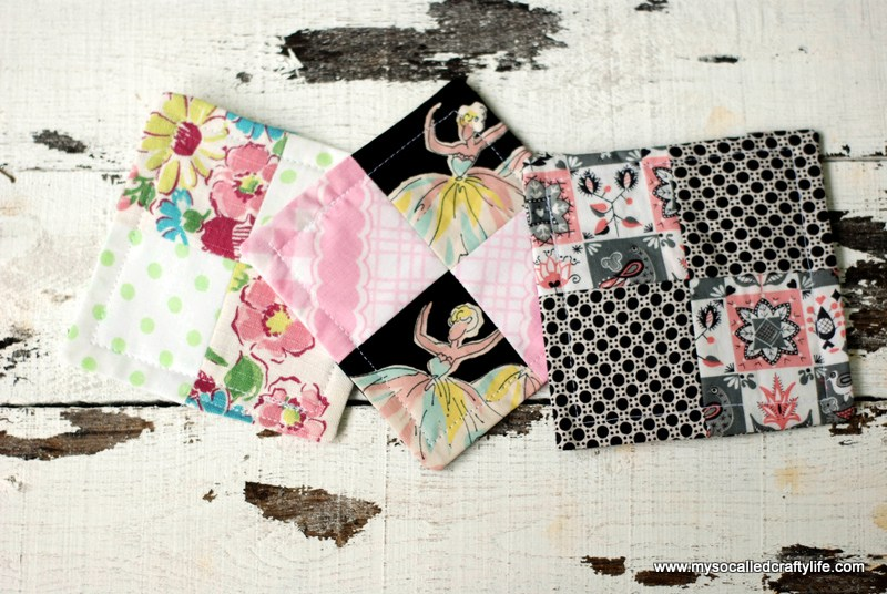 Scrappy Patchwork Coasters