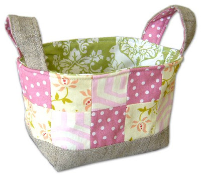 Fabric Scrap Basket