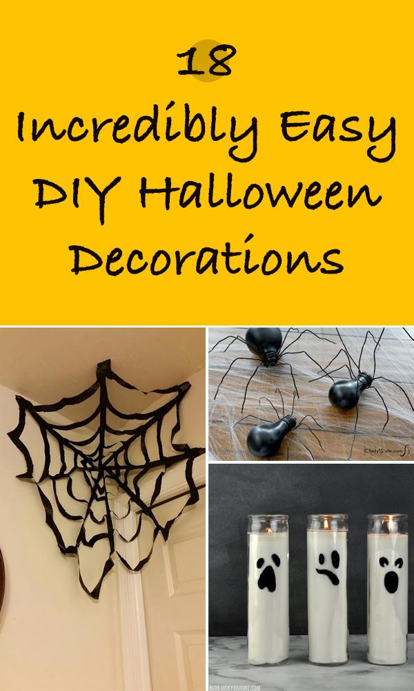18 Incredibly Easy DIY Halloween Decorations