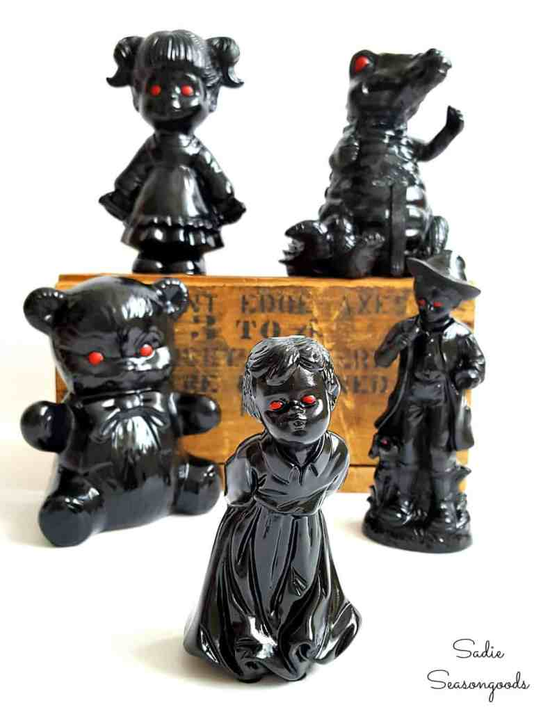 Creepy and Haunted Halloween Figurines