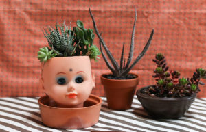 Doll head planter