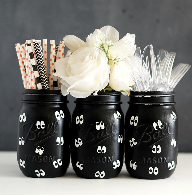 Google Eye Mason Jars