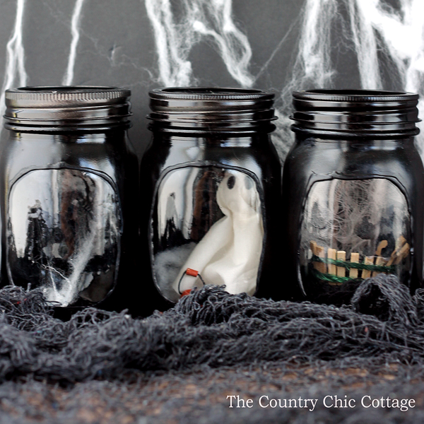 Haunted House Mason Jars