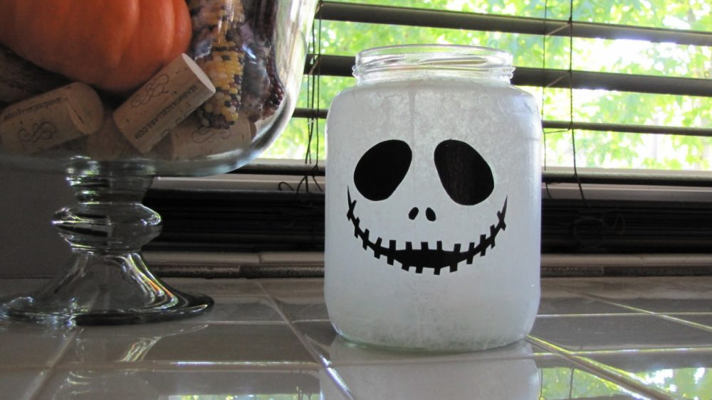 Jack Skellington Halloween Jar