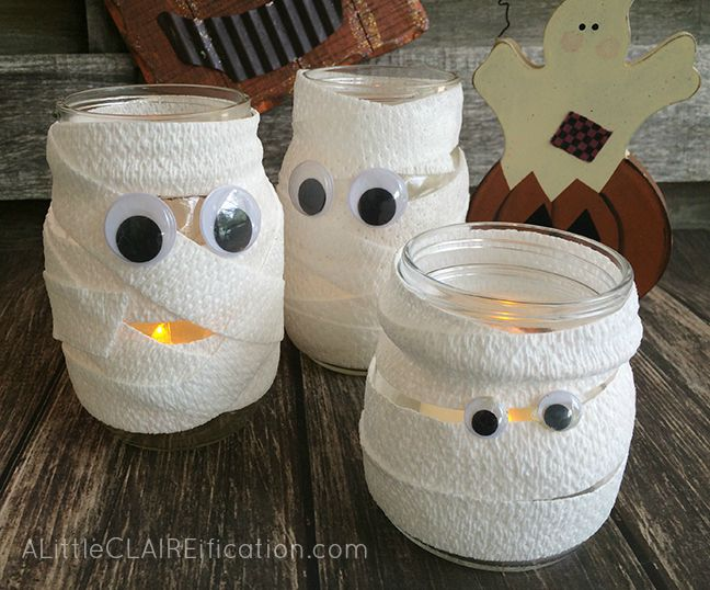 Mummy Mason Jar Luminaries