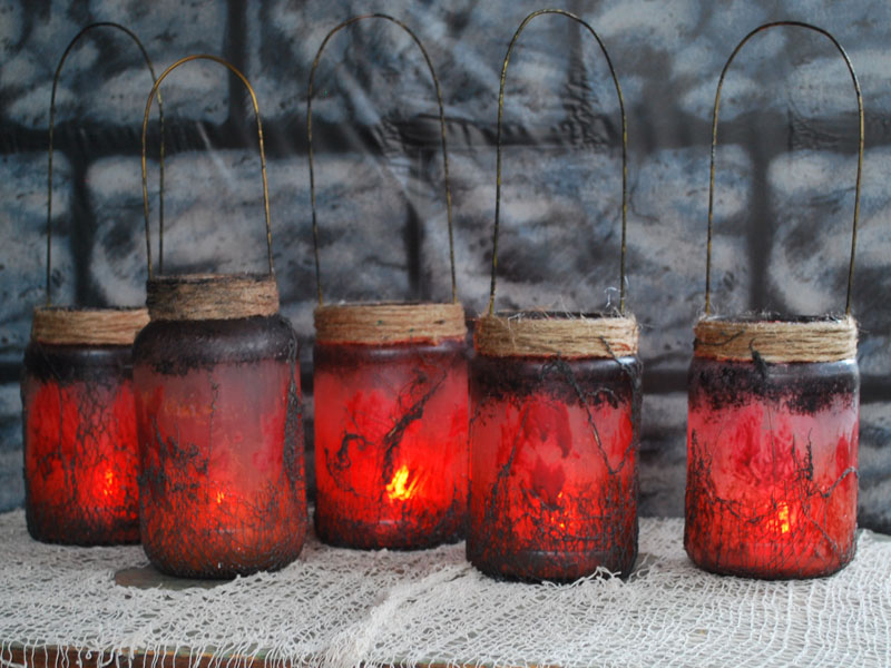 Witch Lantern Jars