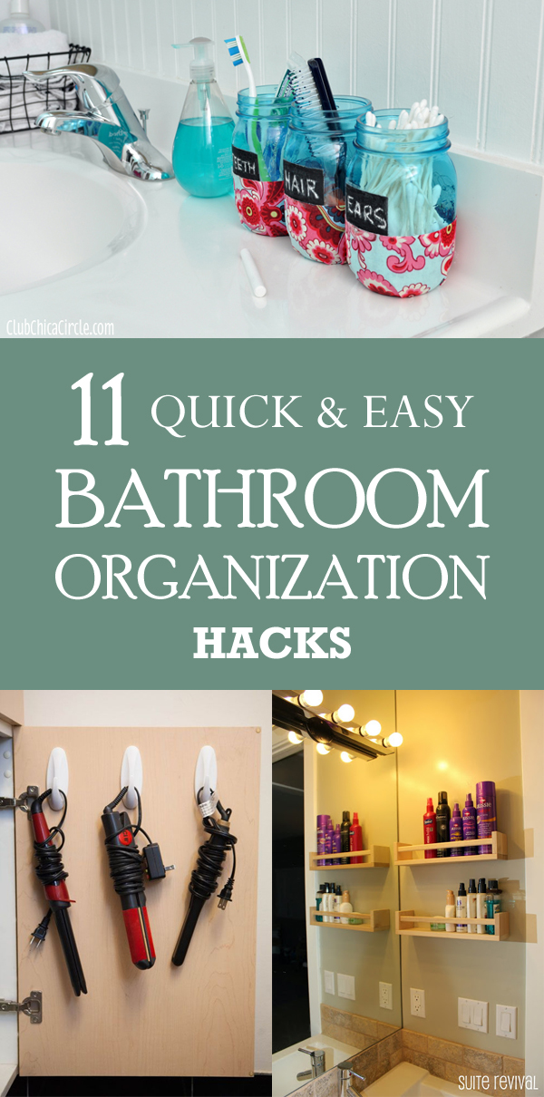 11 Quick And Easy Bathroom Organization Hacks