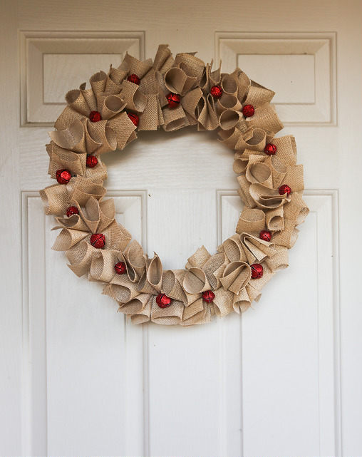 Burlap Christmas Wreath