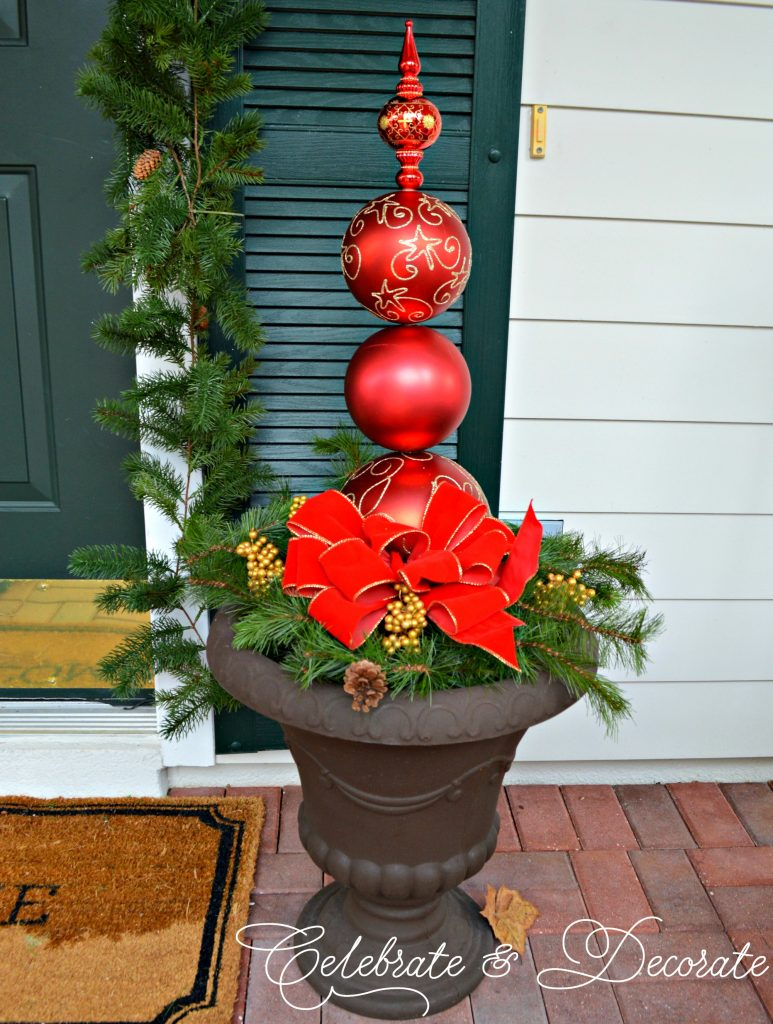 Christmas Ornament Topiary