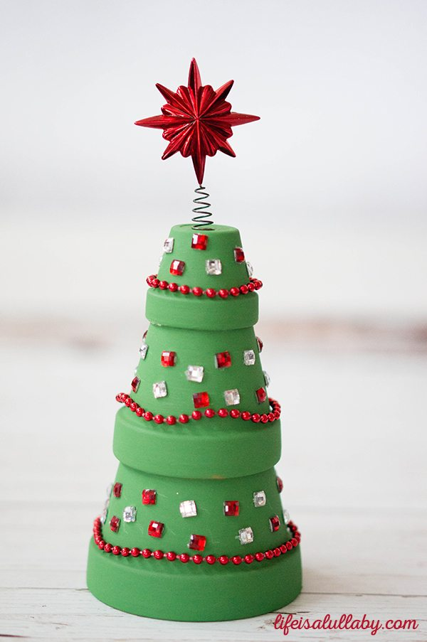 Clay Pot Christmas Tree