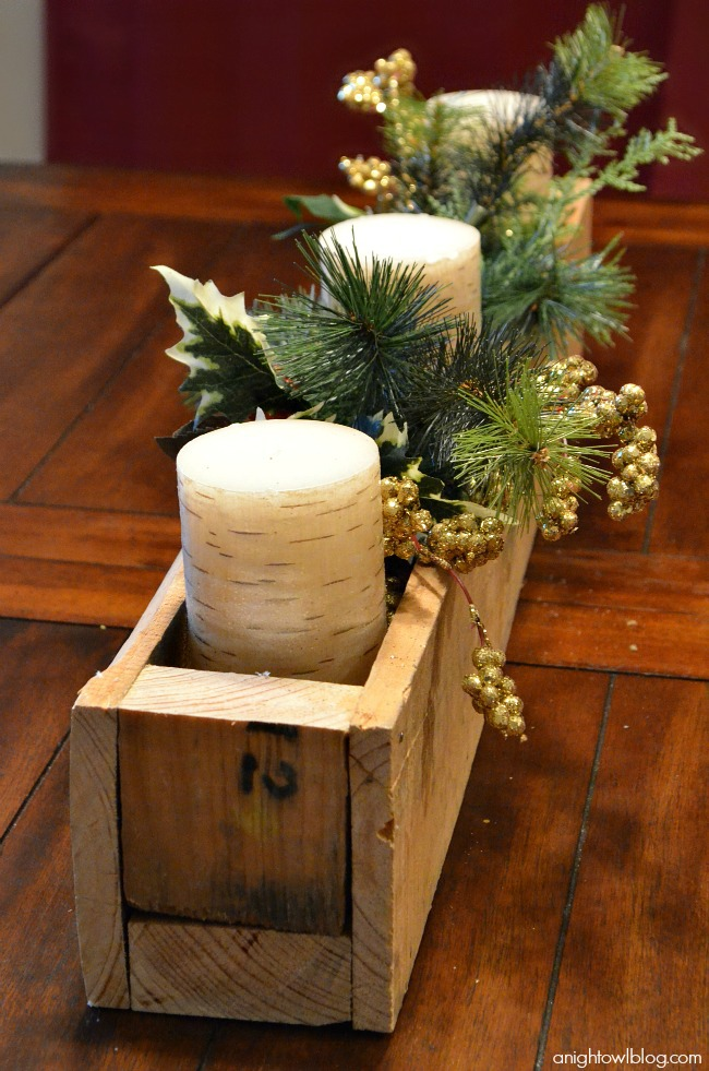 Pallet Wood Centerpiece Box