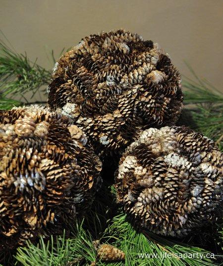 Pine Cone Christmas Balls