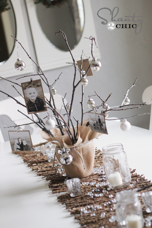 Rustic Photo Tree Centerpiece