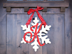 Snowflake Monogram Wreath