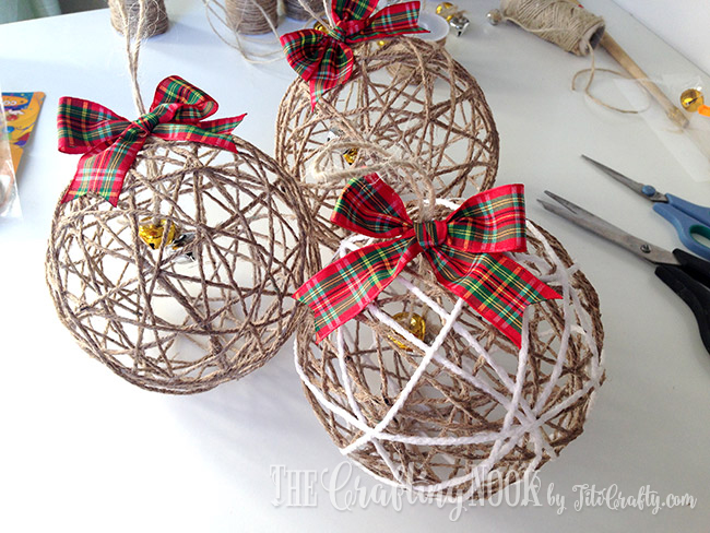 Twine Ball Christmas Ornaments