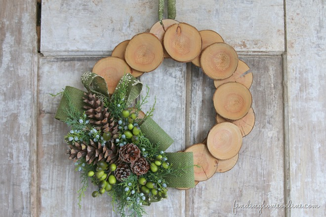 Wood Slice Christmas Wreath