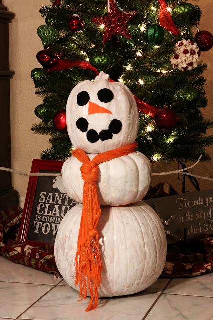 pumpkin snowman