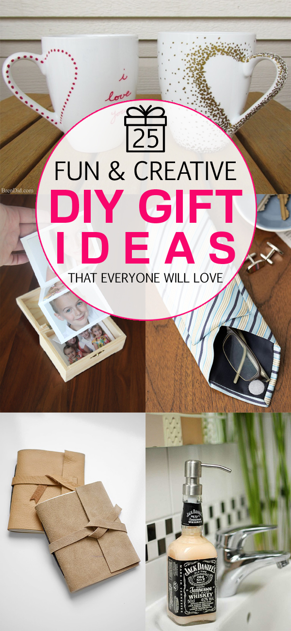 25 Fun And Creative DIY Gift Ideas That Everyone Will Love