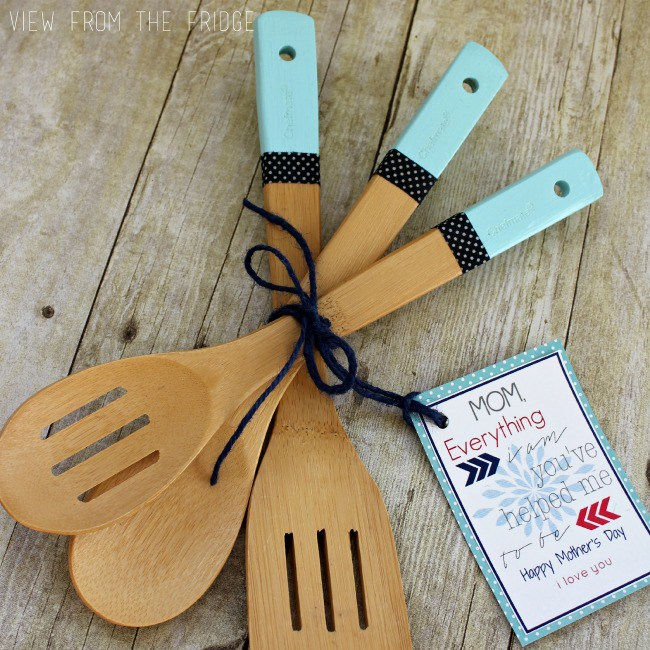 Color Dipped Wooden Utensils